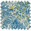 Tissu enduit forêt bleue - PPMC