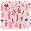Tissu enduit  au mètre herbier rose - PPMC
