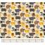 Tissu enduit mouton jaune