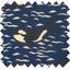Tissu enduit  au mètre orque bleue - PPMC
