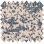 Tissu enduit  toile de jouy marine - PPMC