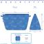 Cosmetic bag with flap confetti aqua