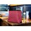 Bolsa de baño con lengüeta azafrán grosella