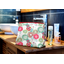 Cosmetic bag with flap powdered  dahlia