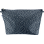Cosmetic bag with flap etoile argent jean