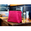 Cosmetic bag with flap etoile or fuchsia