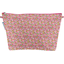 Cosmetic bag with flap pink jasmine - PPMC