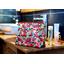 Cosmetic bag with flap kokeshis