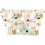 Cosmetic bag with flap water green rabbit