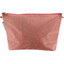 Cosmetic bag with flap mini pink flower - PPMC
