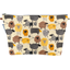 Cosmetic bag with flap yellow sheep - PPMC