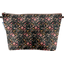 Cosmetic bag with flap ochre bird - PPMC