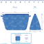 Cosmetic bag with flap paquerette marine