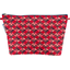 Cosmetic bag with flap paprika petal