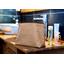 Bolsa de baño con lengüeta rayado broncea cobrizo
