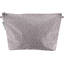 Cosmetic bag with flap triangle cuivré gris - PPMC