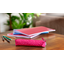 Mini pencil case etoile or fuchsia