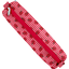 Round pencil case ladybird gingham