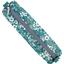 Round pencil case celadon violette - PPMC