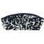 Pencil case black linen foliage  - PPMC