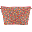 Cosmetic bag with flap peach flower - PPMC