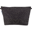 Cosmetic bag with flap noir pailleté - PPMC