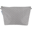 Cosmetic bag with flap light grey spots - PPMC