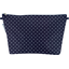 Cosmetic bag with flap navy blue spots - PPMC
