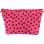 Cosmetic bag with flap ladybird gingham
