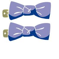 Small bows hair clips
