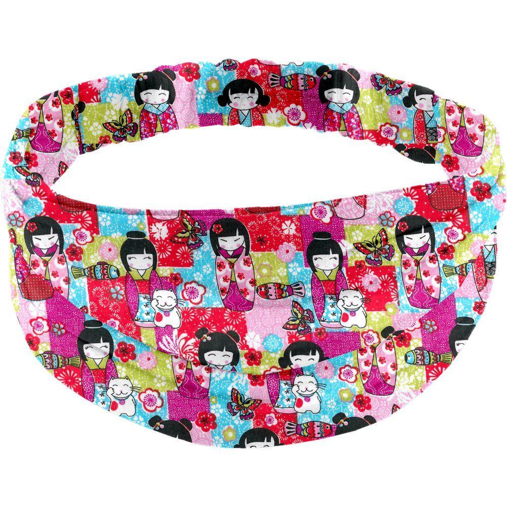 Headscarf headband- Adult size kokeshis