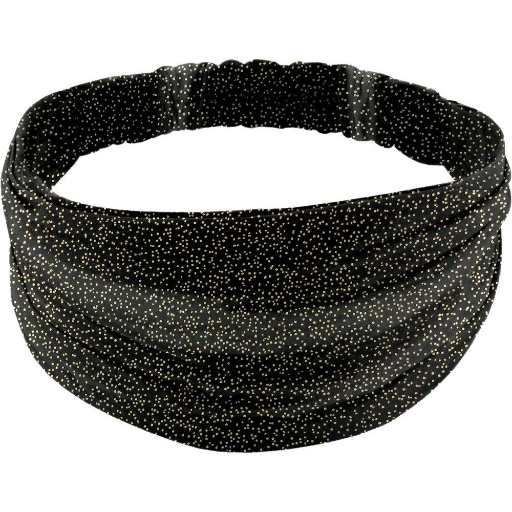 Headscarf headband- Adult size noir pailleté