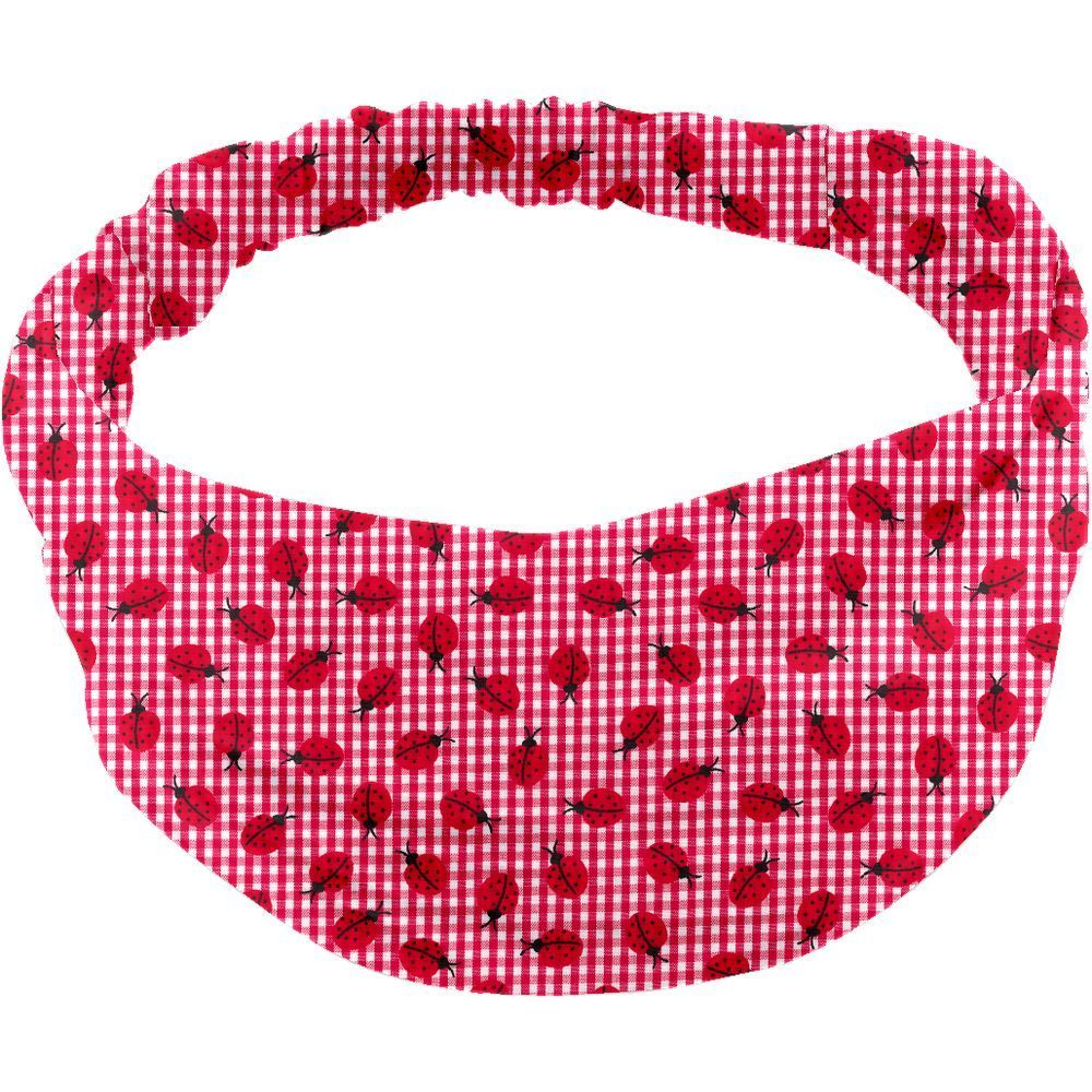 Headscarf headband- Baby size ladybird gingham
