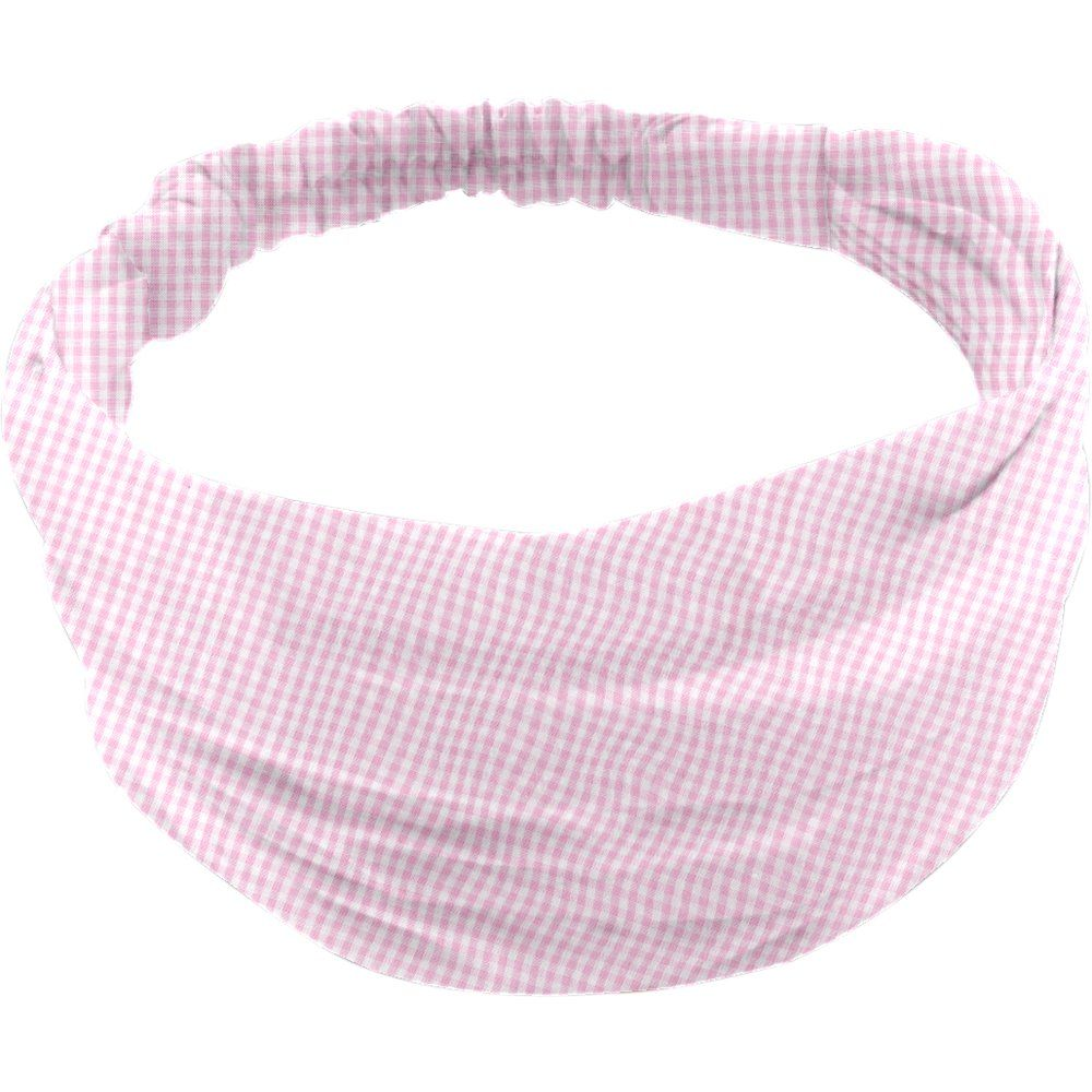 Headscarf headband- Baby size pink gingham