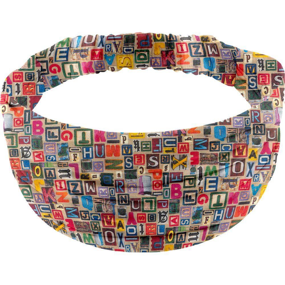 Headscarf headband- child size multi letters