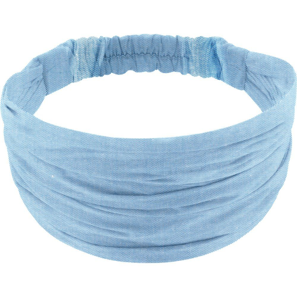 Headscarf headband- child size oxford blue