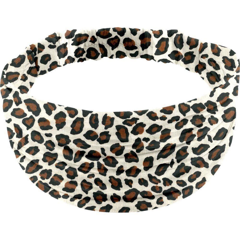 Headscarf headband- child size leopard print