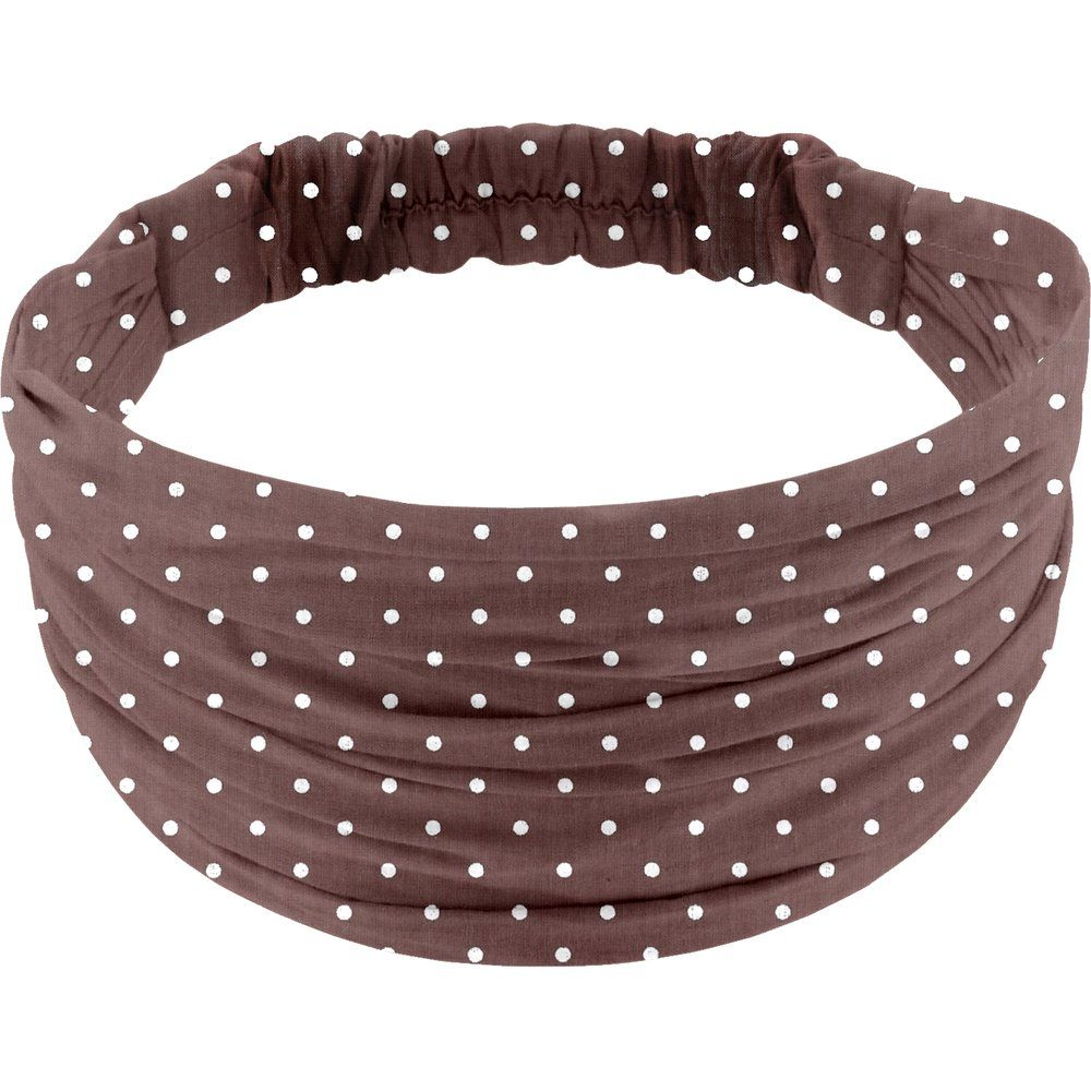 Headscarf headband- child size brown spots