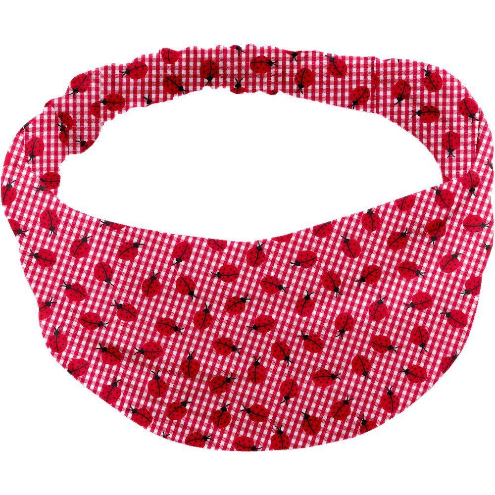 Turbantes para niña cuadros vichy rojo y mariquitas