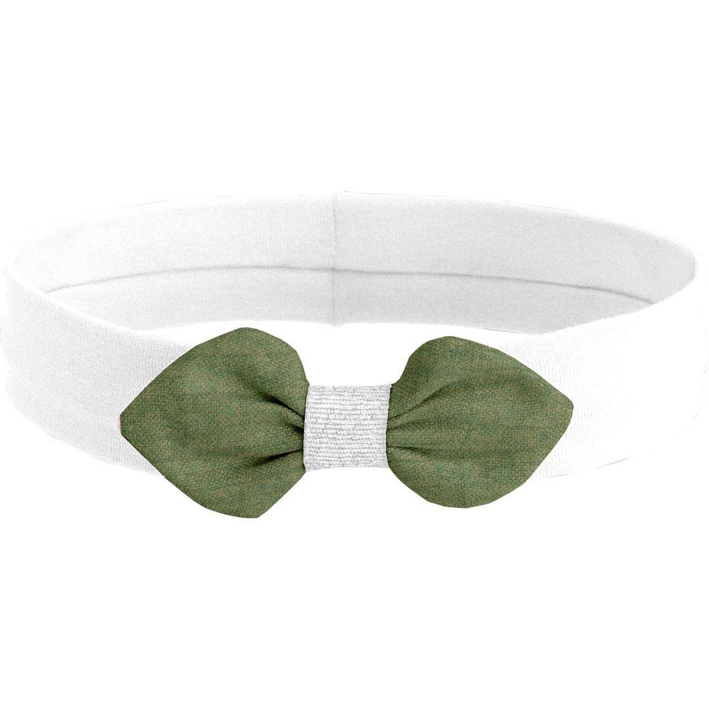 Jersey knit baby headband sage green gauze