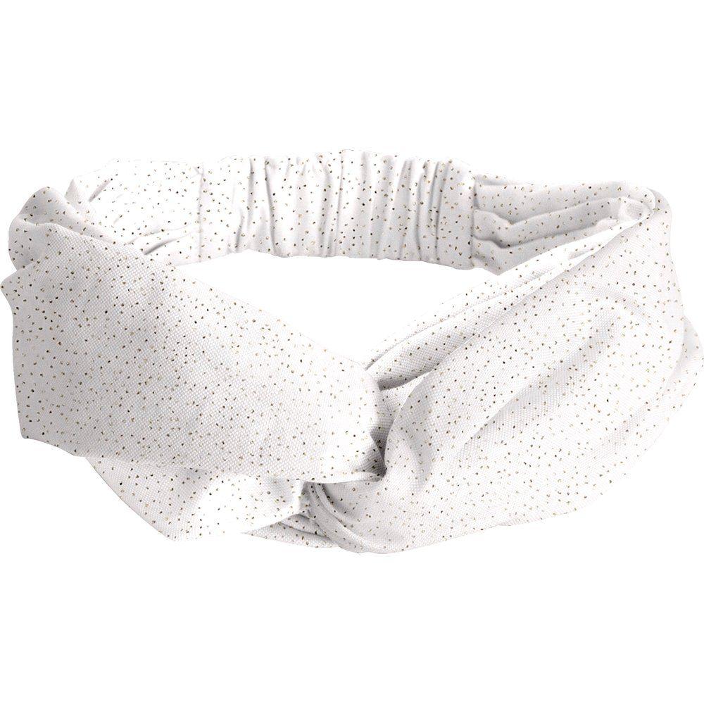 Bandeau croisé  blanc pailleté