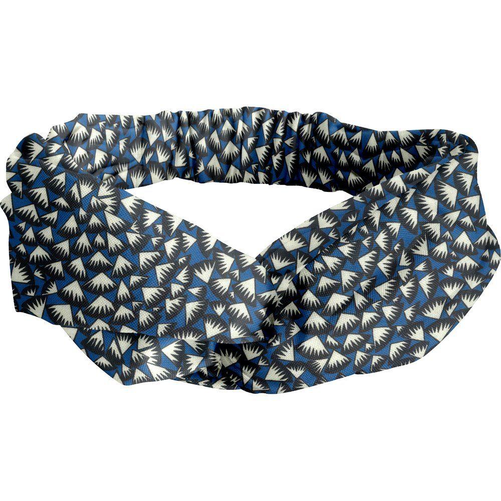 crossed headband parts blue night