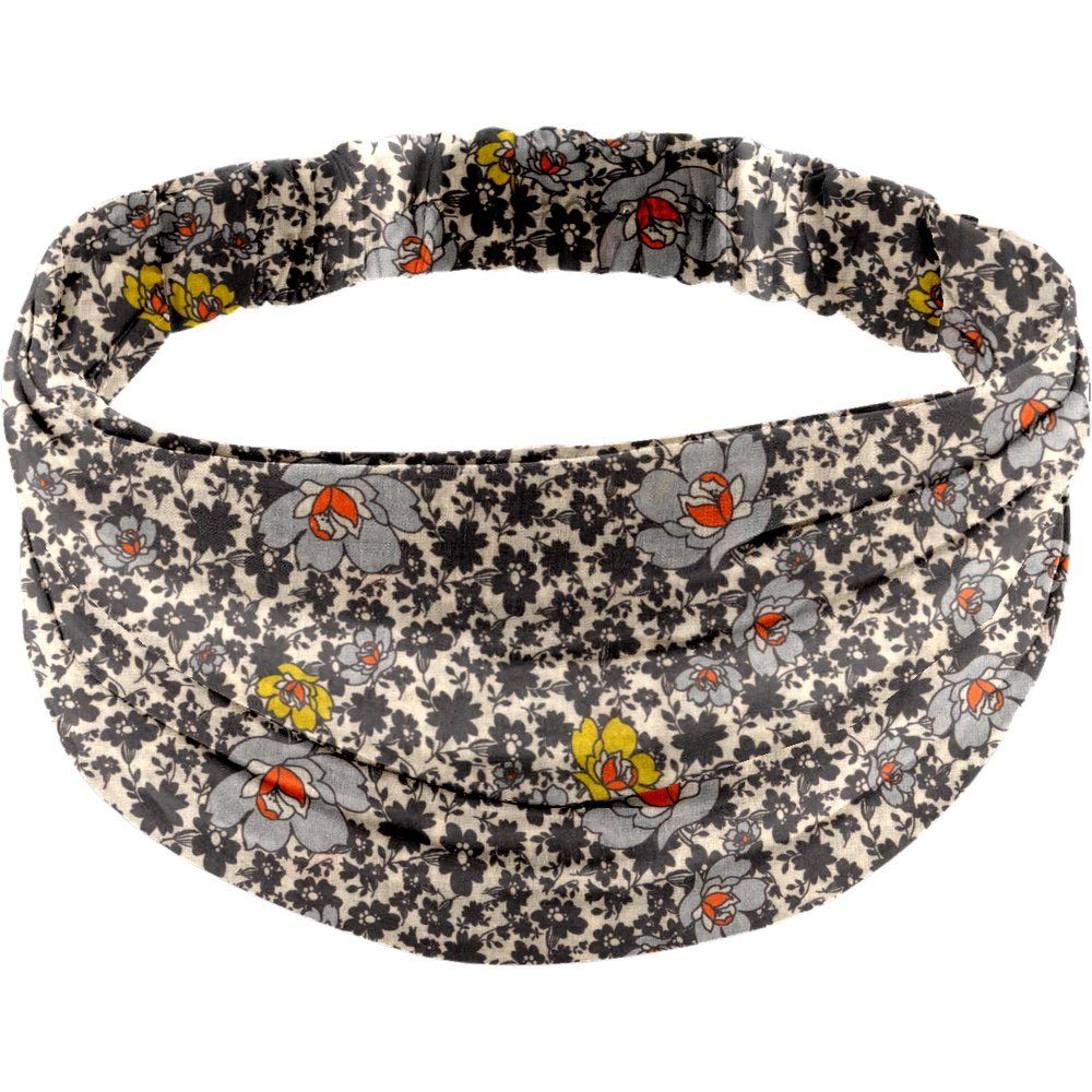 Headscarf headband- Adult size ochre flower