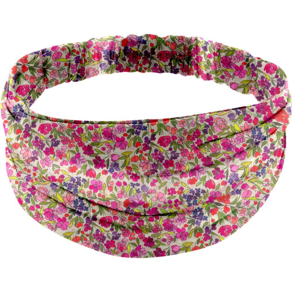 Headscarf headband- Adult size purple meadow