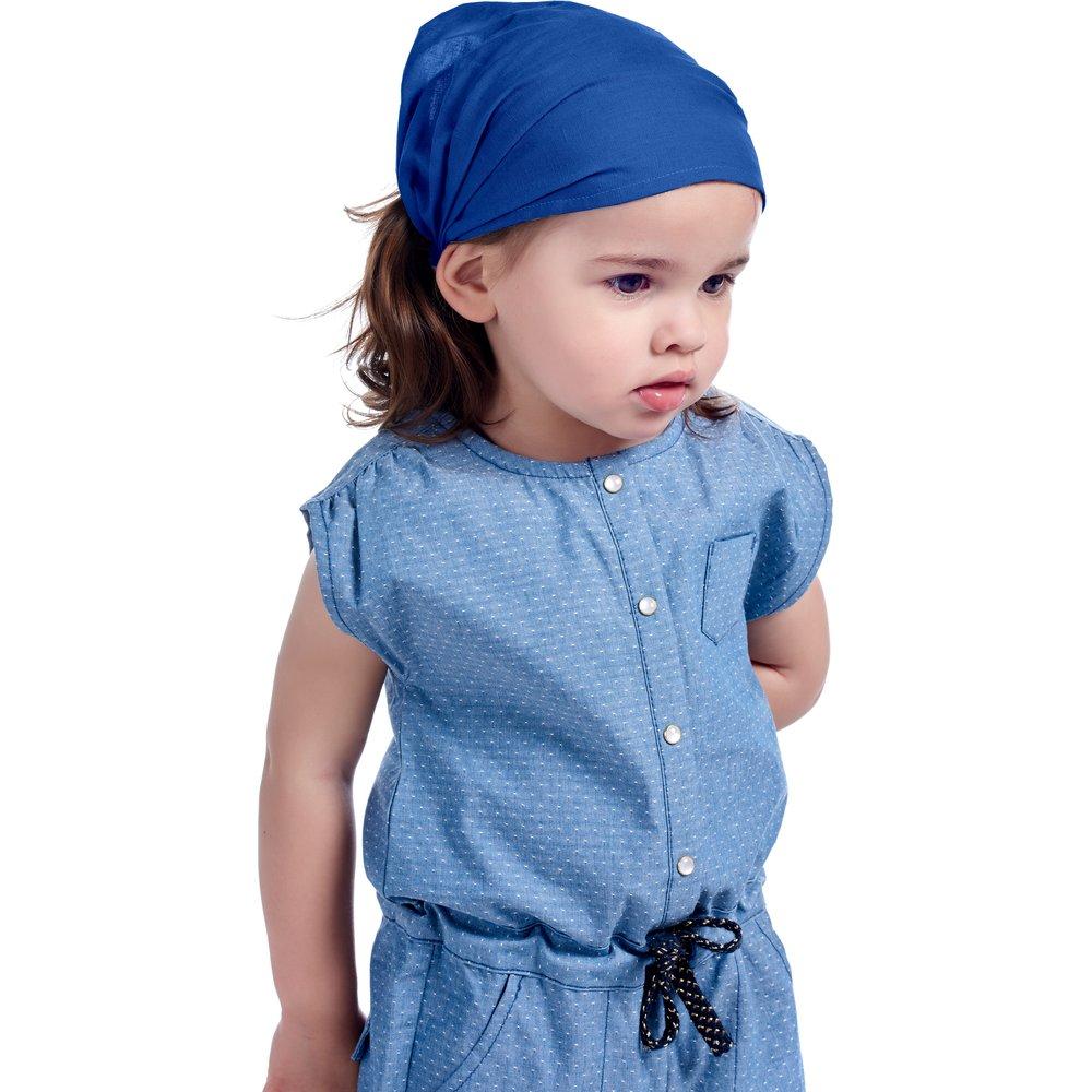 Bandeau fichu Bébé bleu navy