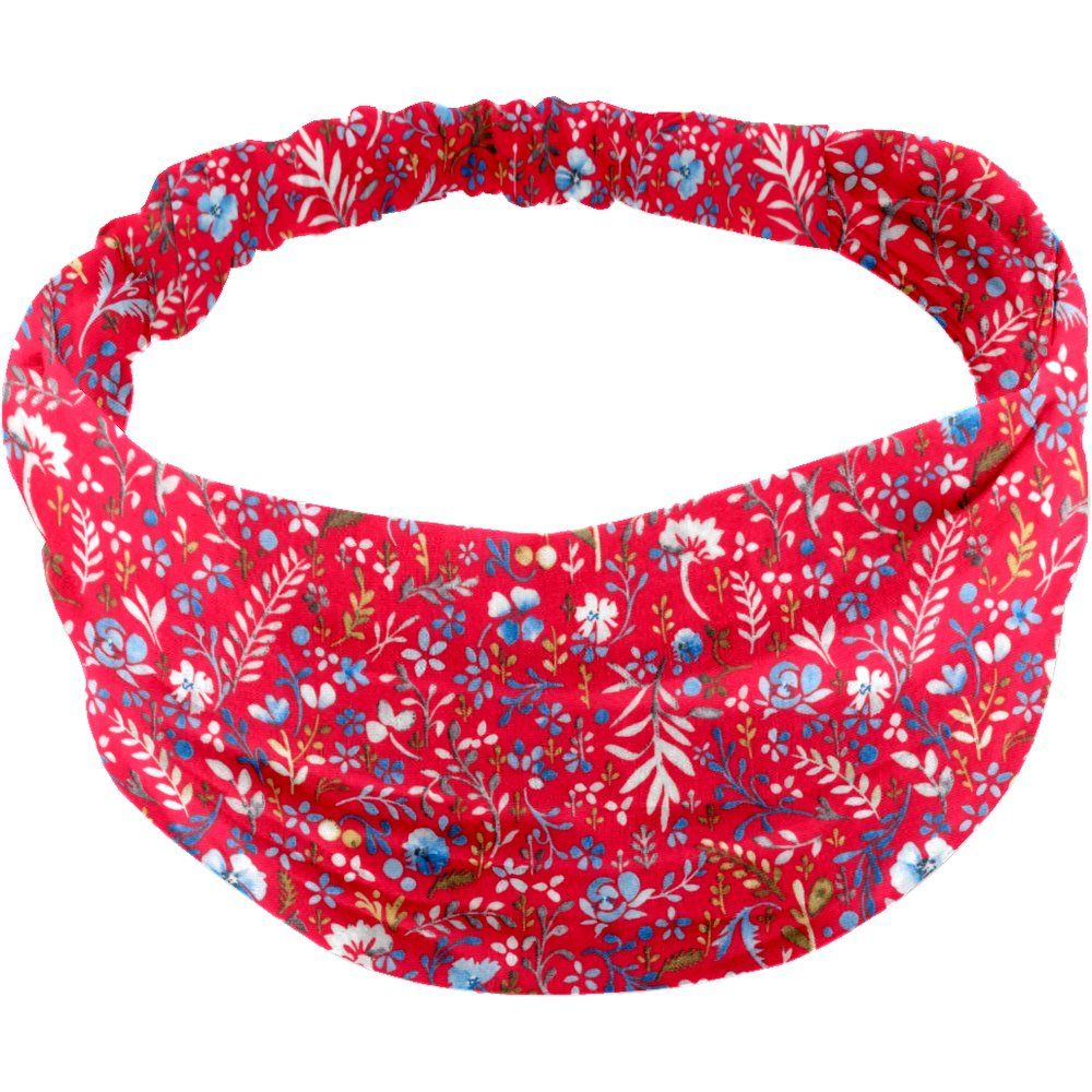Headscarf headband- Baby size cherry cornflower