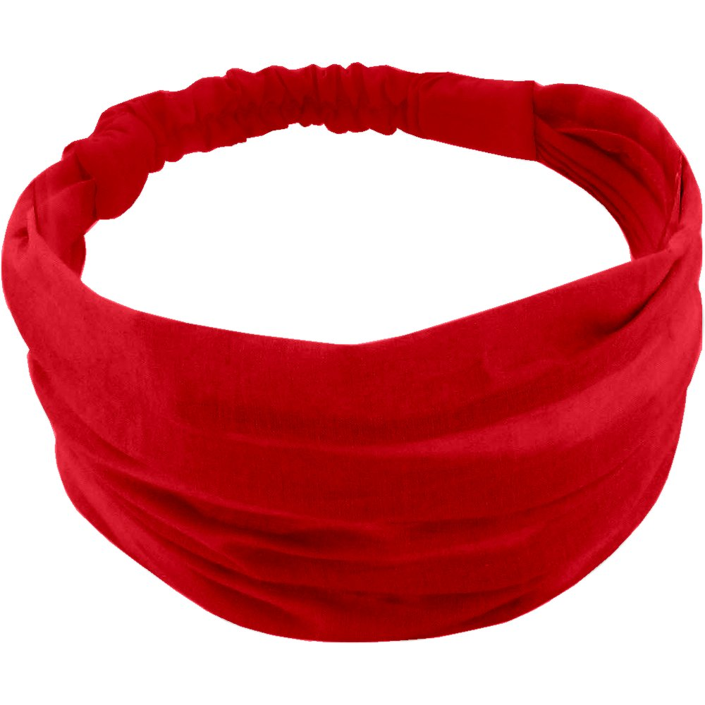 Headscarf headband- Baby size tangerine red