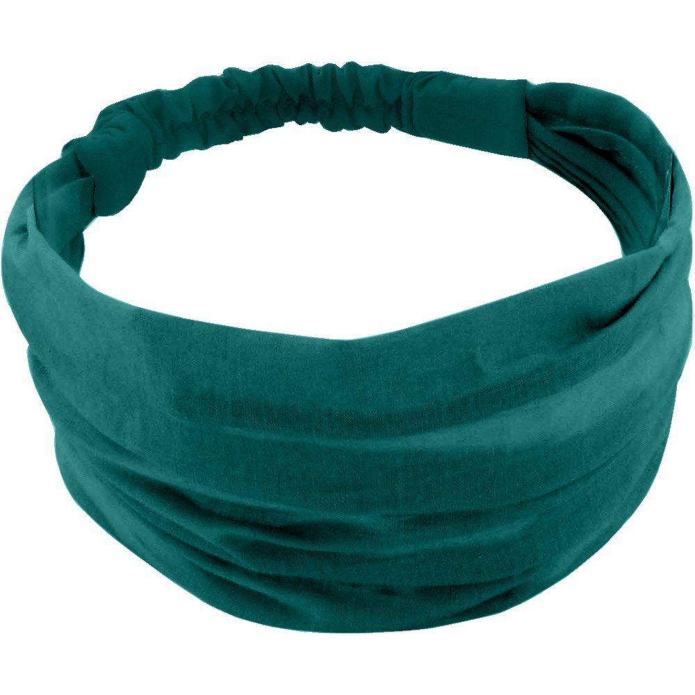 Headscarf headband- Baby size emerald green