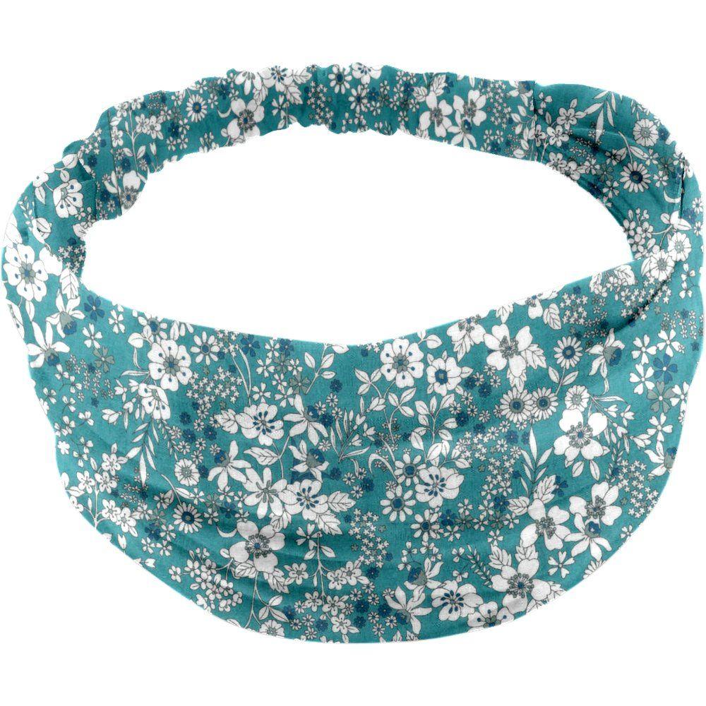 Headscarf headband- Baby size celadon violette