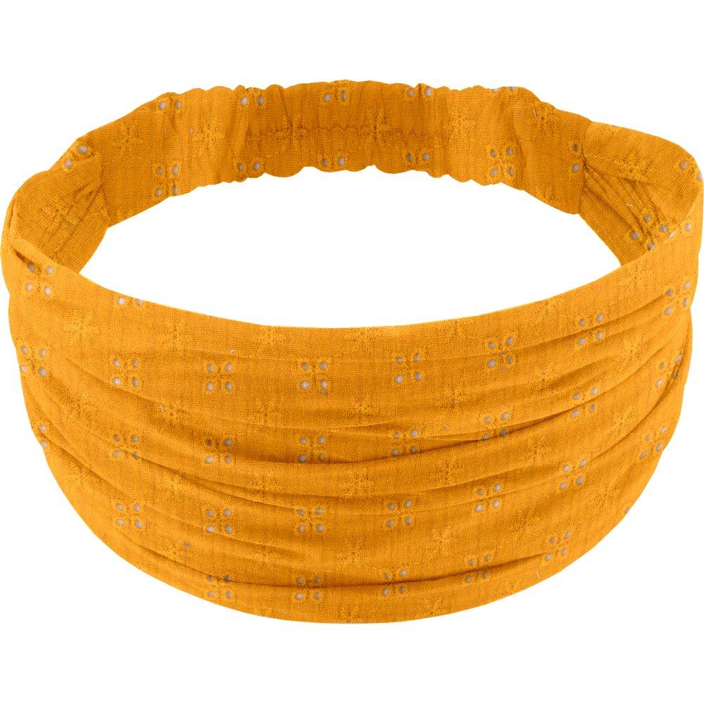 Headscarf headband- child size gaze dentelle ocre